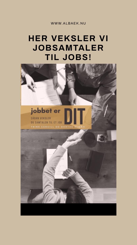 Jobbet er DIT - her veksler vi jobsamtaler til jobs.